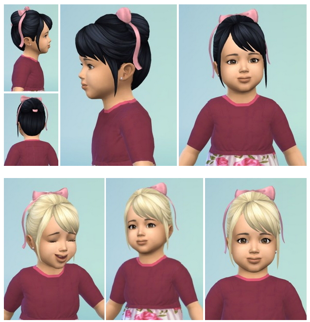 Sims 4 Toddler BowBun at Birksches Sims Blog