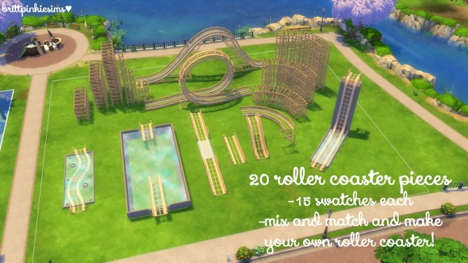 Roller Coaster Set at Brittpinkiesims image 1384 670x377 Sims 4 Updates