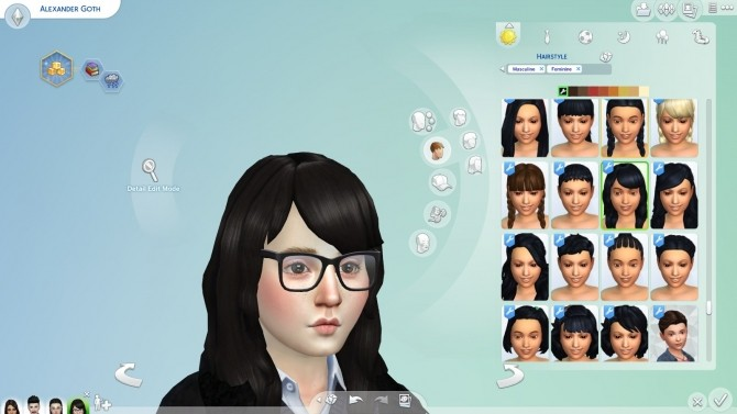 Black Hair and Eyebrows Texture Override by chingyu1023 at Mod The Sims image 140 670x377 Sims 4 Updates