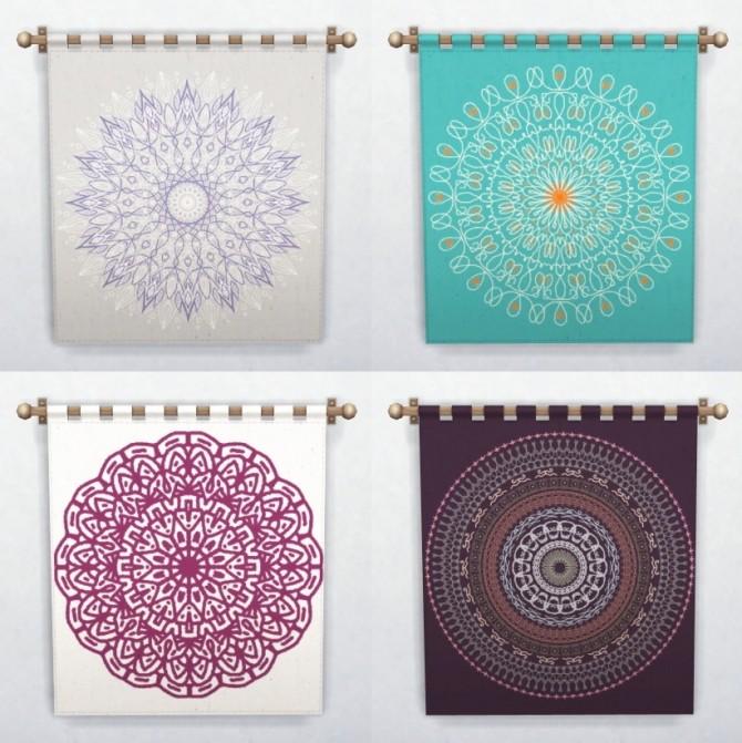 Mandal La La Tapestries At 4 Prez Sims4 187 Sims 4 Updates