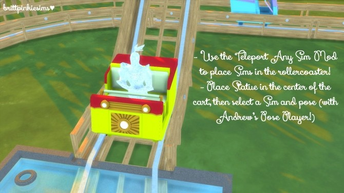Roller Coaster Set at Brittpinkiesims image 1403 670x377 Sims 4 Updates