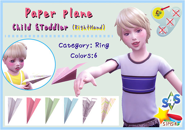 Paper Plane Child & Toddler (left hand) at A luckyday image 1408 Sims 4 Updates