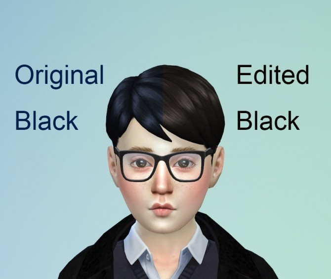 Black Hair and Eyebrows Texture Override by chingyu1023 at Mod The Sims image 141 670x565 Sims 4 Updates