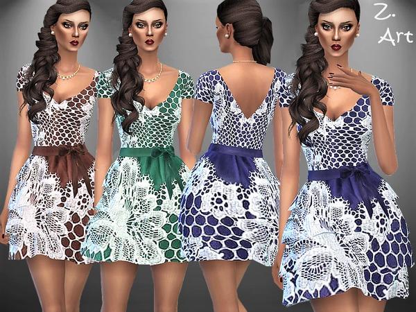Sims 4 VintageZ 04 dress by Zuckerschnute20 at TSR