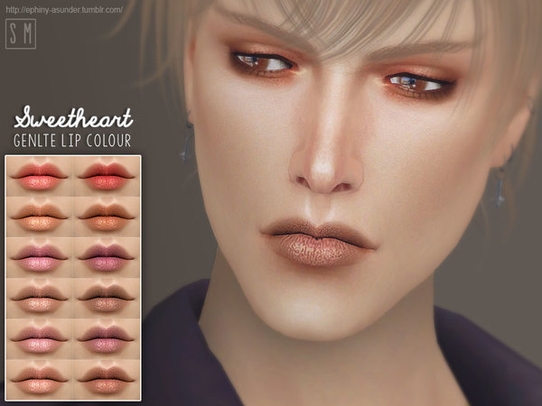 Sims 4 Sweetheart Gentle Lip Colour by Screaming Mustard at TSR