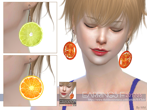 EARRINGS F 201705 by S Club WM at TSR image 1429 Sims 4 Updates