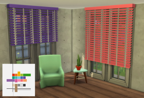 Sims 4 ME & RC Get to Work Blinds at ChiLLis Sims