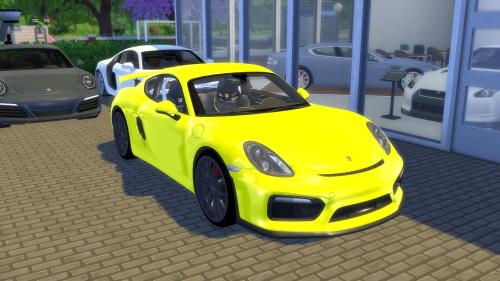 Sims 4 Porsche Cayman GT4 at OceanRAZR