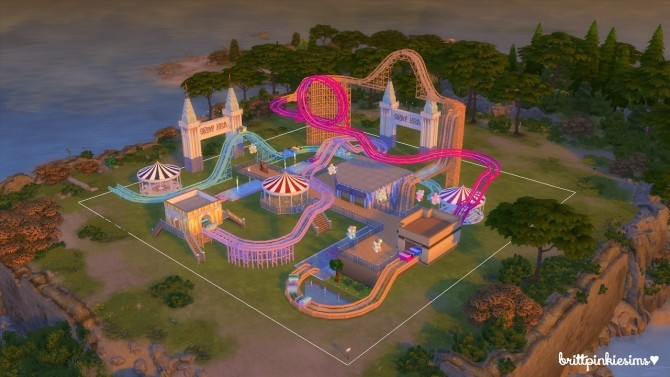 Roller Coaster Set at Brittpinkiesims image 1454 670x377 Sims 4 Updates