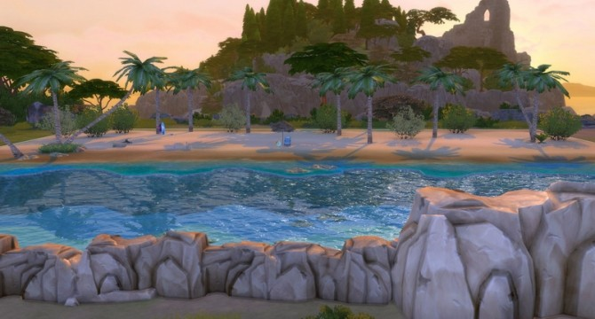 Tropical Beach with Real Waves by Snowhaze at Mod The Sims image 146 670x360 Sims 4 Updates