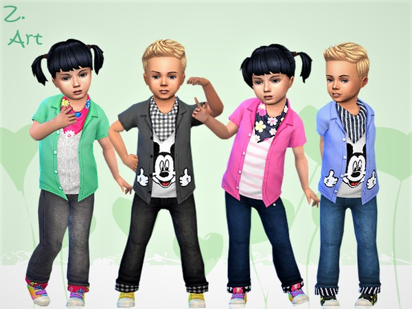 BabeZ 15 shirts by Zuckerschnute20 at TSR image 1460 Sims 4 Updates