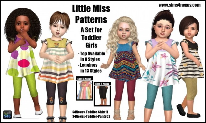 Little Miss Patterns set by SamanthaGump at Sims 4 Nexus image 14710 670x402 Sims 4 Updates