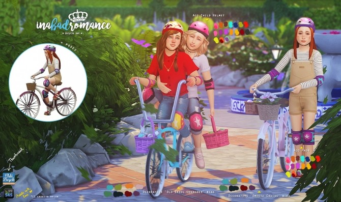 Childrens bicycle set: Decorative & Poses at In a bad Romance image 14711 670x397 Sims 4 Updates