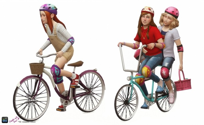 Childrens bicycle set: Decorative & Poses at In a bad Romance image 14811 670x410 Sims 4 Updates
