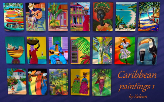 Caribbean art at Xelenn image 1484 Sims 4 Updates