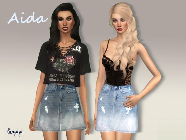 Aida denim skirt at Laupipi image 1486 Sims 4 Updates