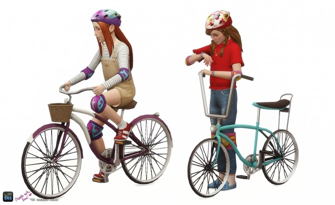 Childrens bicycle set: Decorative & Poses at In a bad Romance image 14910 670x410 Sims 4 Updates