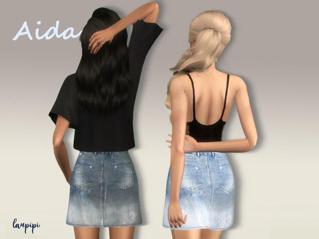 Aida denim skirt at Laupipi image 1496 Sims 4 Updates