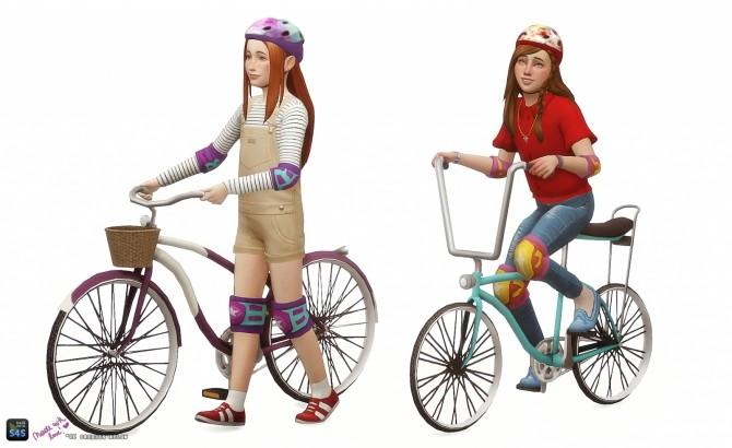 Childrens bicycle set: Decorative & Poses at In a bad Romance image 15010 670x410 Sims 4 Updates