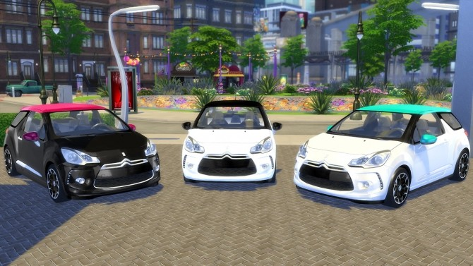 citroen ds3 2014 at oceanrazr sims 4 updates. Black Bedroom Furniture Sets. Home Design Ideas