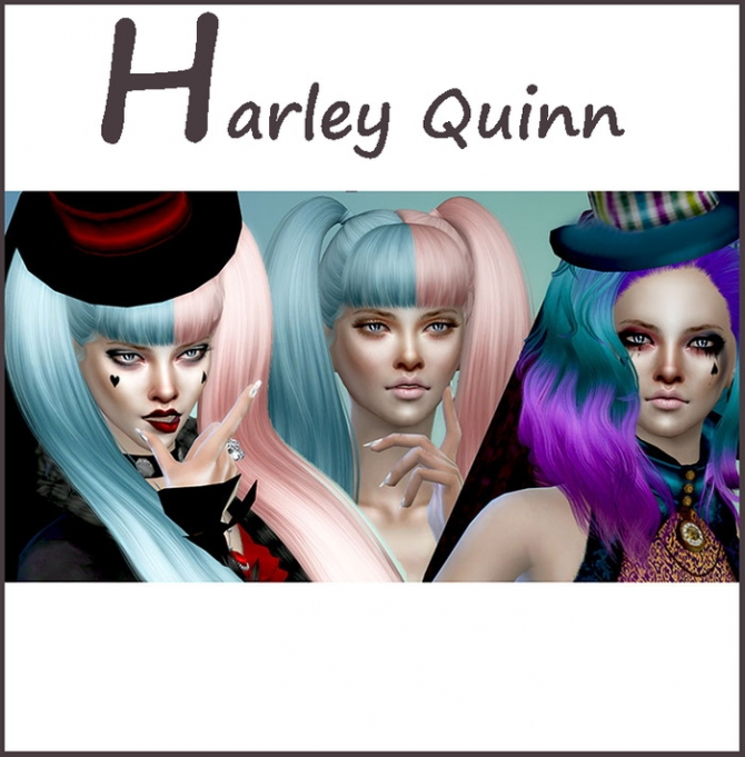 Симс 4 макияж харли квинн