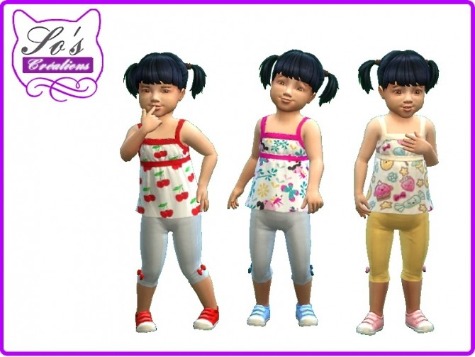 Sims 4 Set of summer clothes TF by Sophie Stiquet at Les Sims4