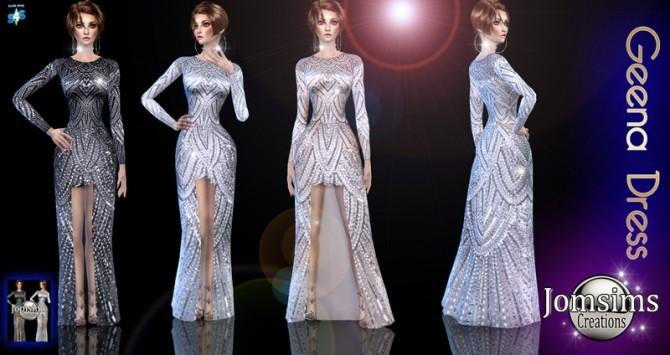 Geena dress at Jomsims Creations image 15412 670x355 Sims 4 Updates