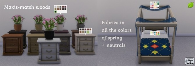 Spring Romance Bedroom Set Collaboration at Sims 4 Studio image 15510 670x227 Sims 4 Updates