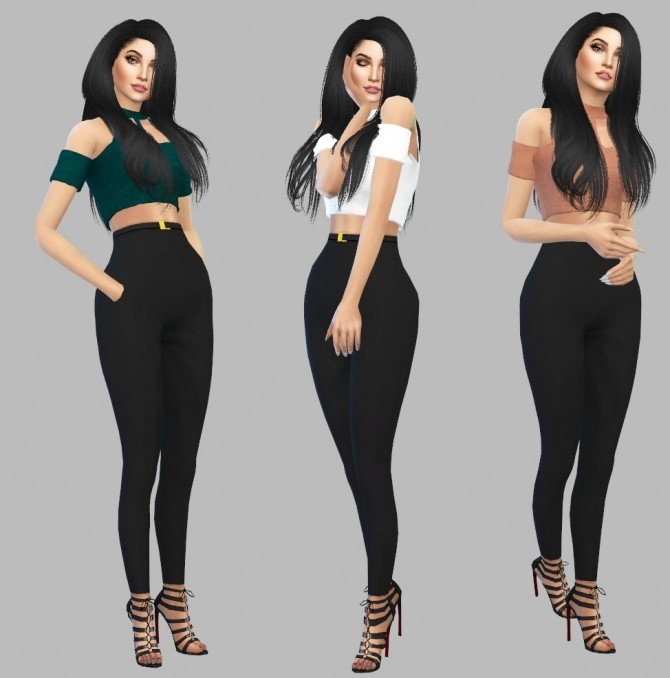 Sims 4 PieFlavoredPieLover Cropped Top recolors at Simply Simming