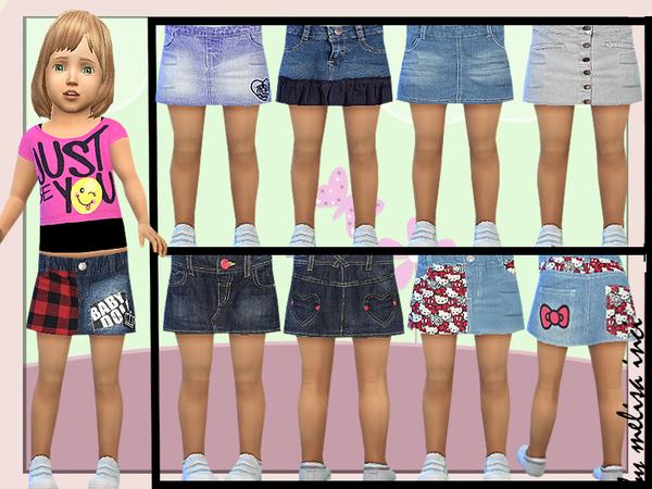 Sims 4 Toddler Denim Skirt by melisa inci at TSR