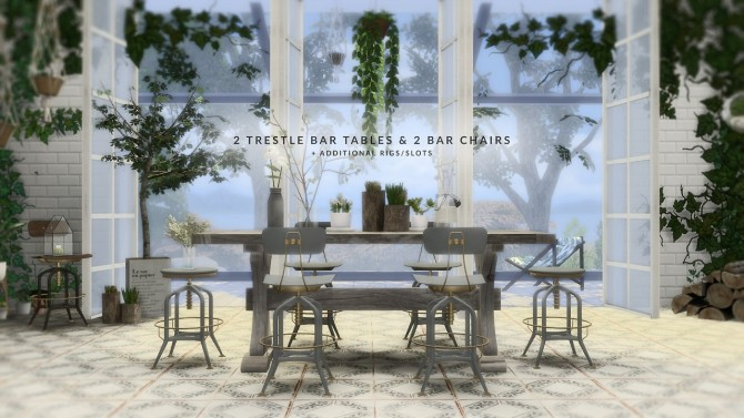 VINTAGE BAR DINING SET at Love9Souls image 1609 670x377 Sims 4 Updates