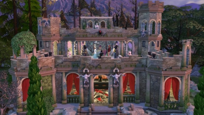 Sims 4 Castle ruins nightclub by fatalist at ihelensims