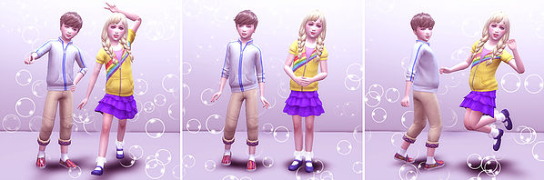 Sims 4 Combination pose 02 (Child) at A luckyday
