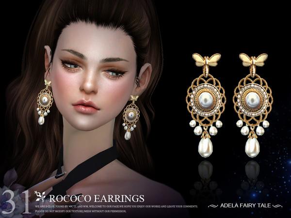 Sims 4 Earrings N31 by S Club LL at TSR