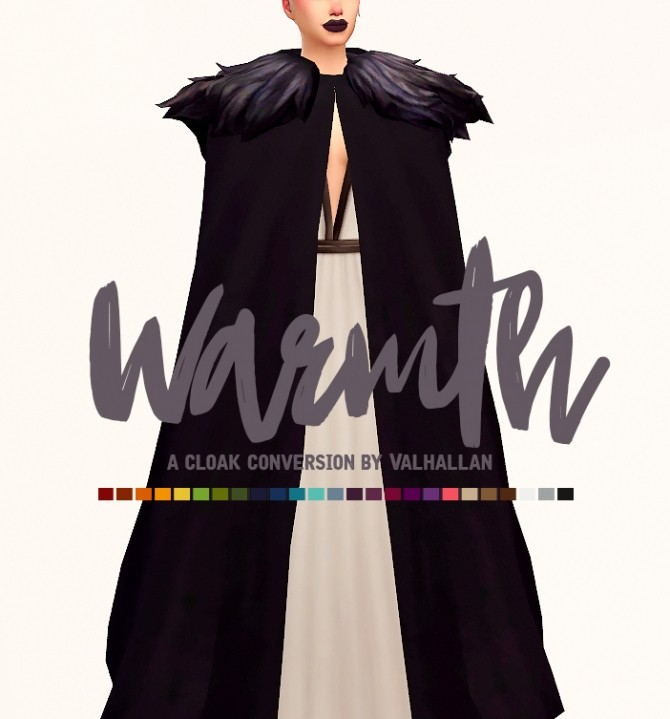 warmth cloak conversion at valhallan  u00bb sims 4 updates