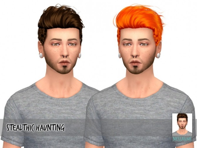 Sims 4 Stealthic haunting + ade kyle + anto scream hair recolors at Nessa Sims