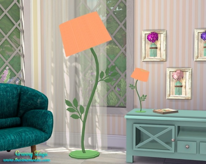 Floor and table lamps by Granny Zaza at The Sims Models image 1648 670x534 Sims 4 Updates