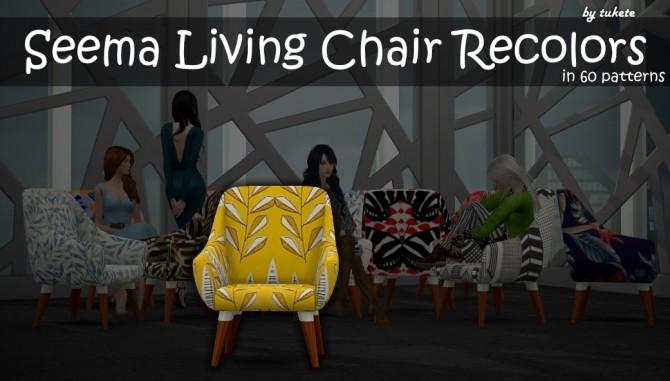 Sims 4 Seema Living Chair Recolors at Tukete