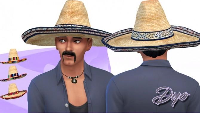 Sims 4 Sombrero by Dyokabb at Les Sims4