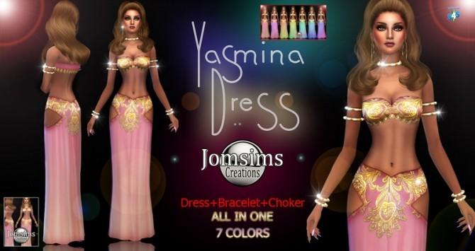 Yasmina dress at Jomsims Creations image 1678 670x355 Sims 4 Updates