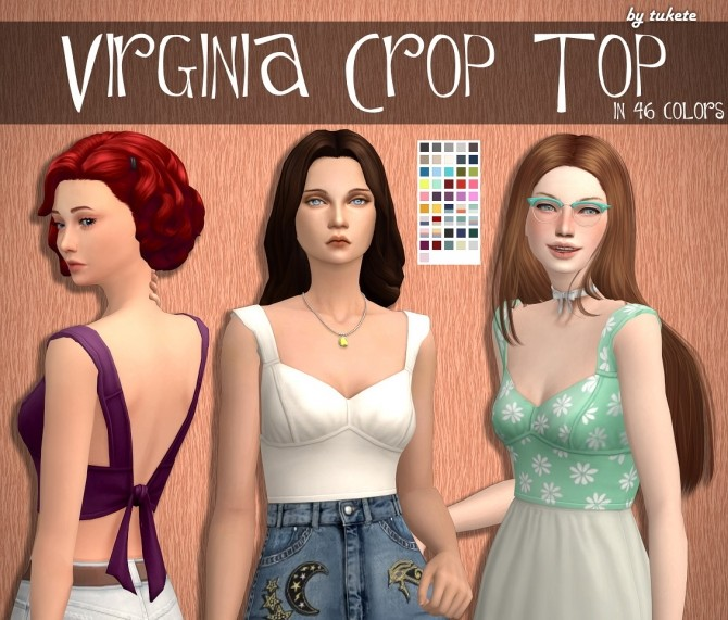 Virginia Crop Top at Tukete image 1683 670x571 Sims 4 Updates
