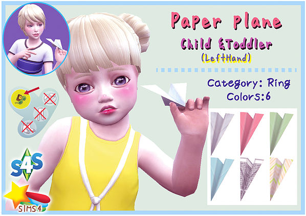 Paper Plane (Child & Toddler) at A luckyday image 1686 Sims 4 Updates