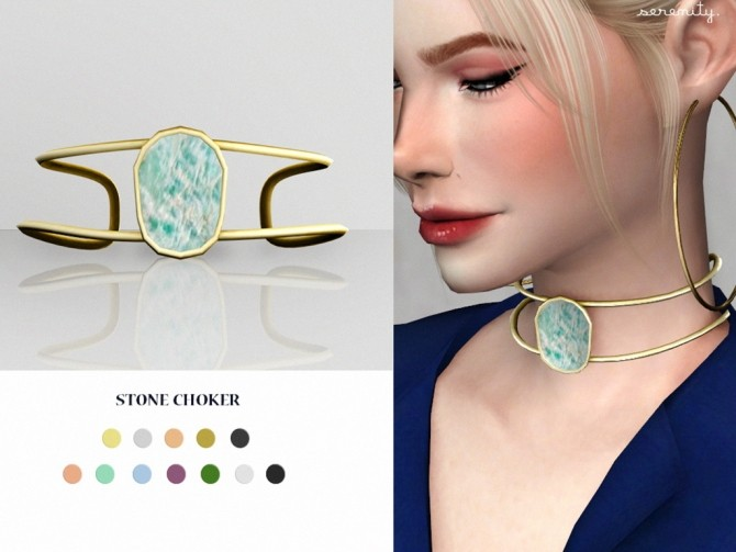 Stone choker at SERENITY image 1694 670x503 Sims 4 Updates