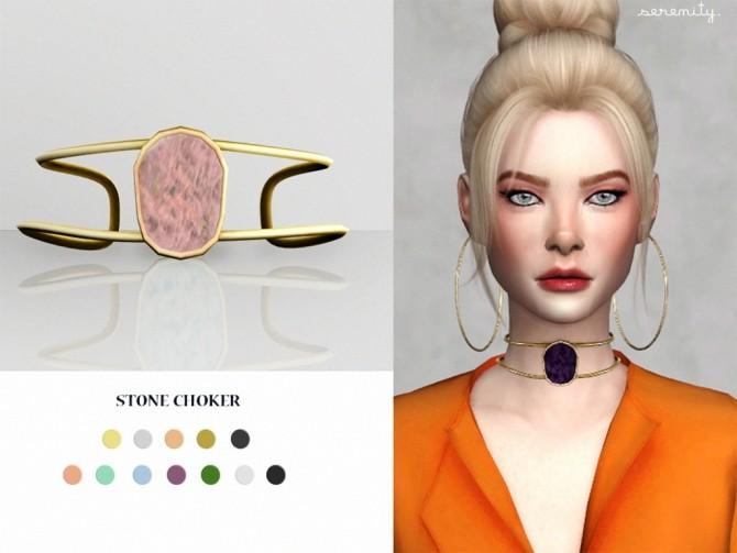 Stone choker at SERENITY image 1703 670x503 Sims 4 Updates