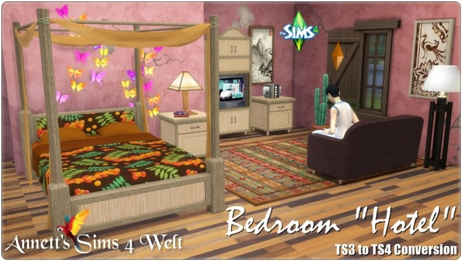 Hotel bedroom TS3 to TS4 Conversion at Annett's Sims 4 Welt image 1708 670x379 Sims 4 Updates