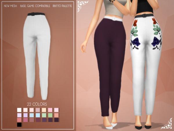 Sims 4 Enriques4 Kimb Pants by Jruvv at TSR