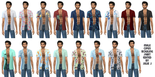 Sims 4 Male Bowling Shirt Edited at Julietoon – Julie J