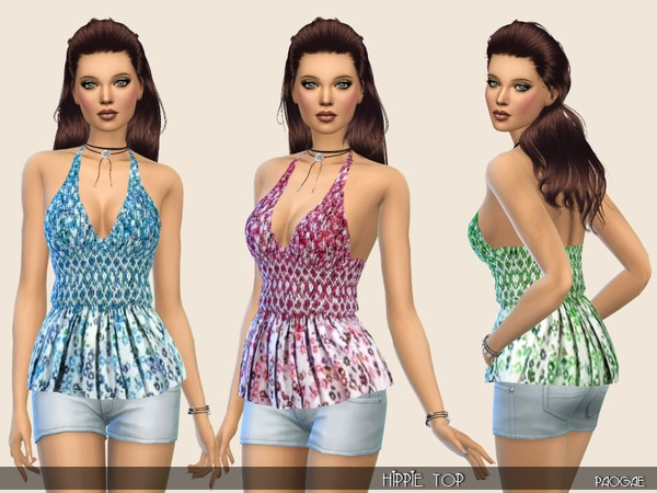 Hippie Top by Paogae at TSR image 1750 Sims 4 Updates