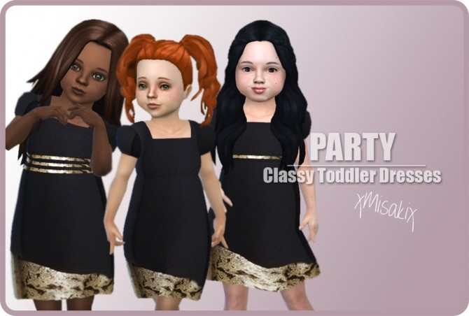 Sims 4 Toddlers Classy Dress at xMisakix Sims
