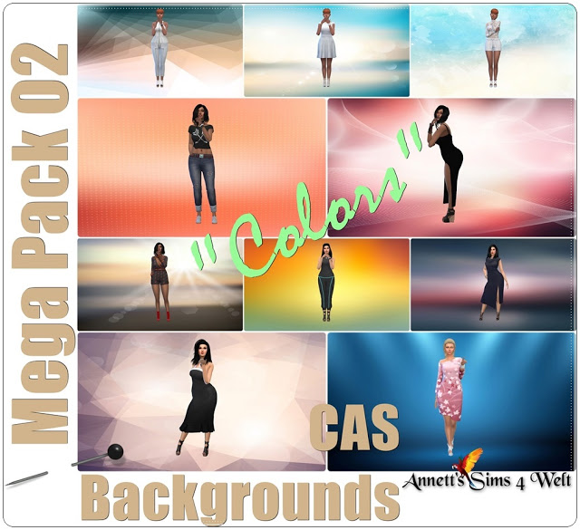 Mega Pack 02 CAS Backgrounds Colors at Annett's Sims 4 Welt image 1787 Sims 4 Updates
